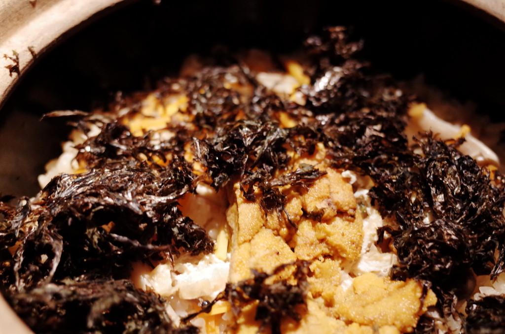 雲丹と海苔の炊き込み御飯